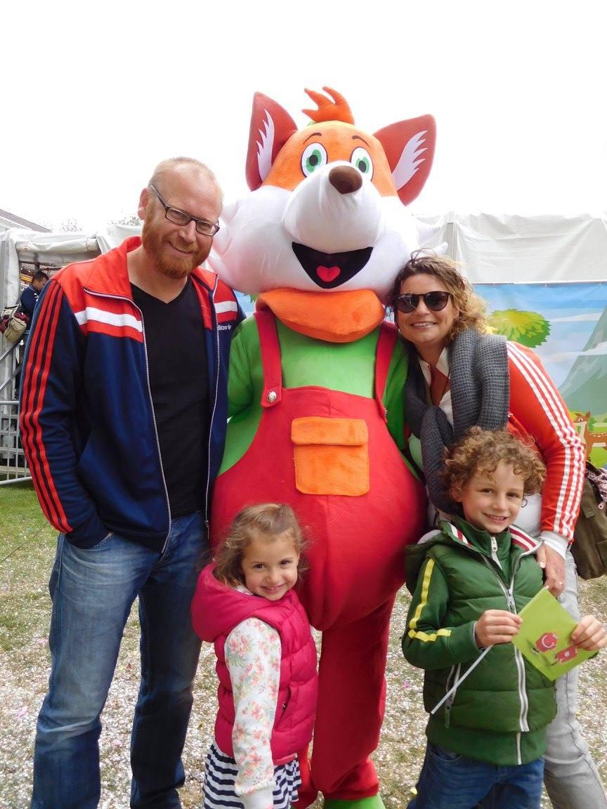 Lenny de Vos met een familie