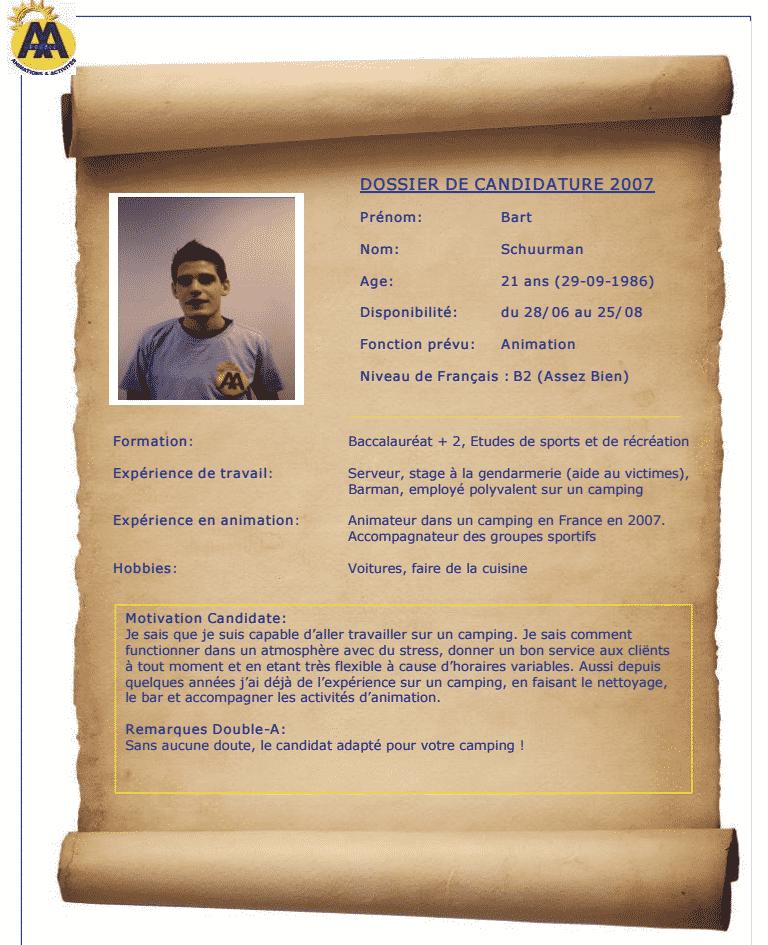 CV Bart 2007